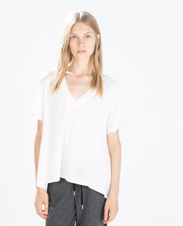 Zara White T